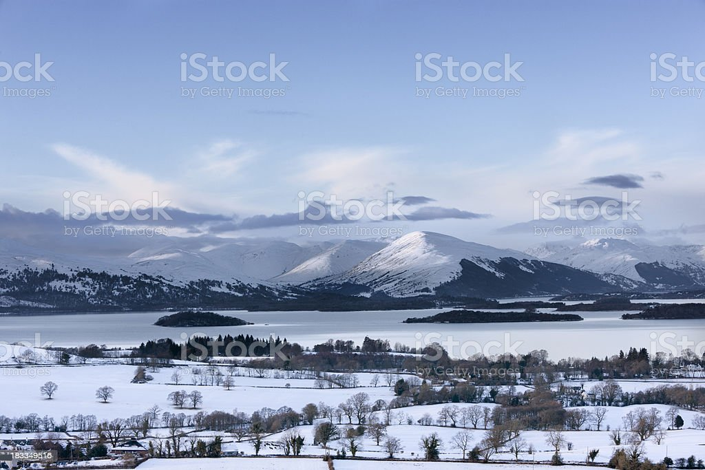 Loch Lomond In Winter stock photo