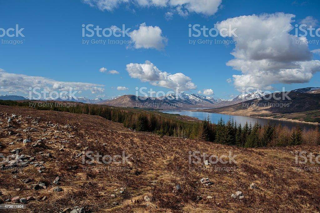 Loch Loyne foto de stock libre de derechos