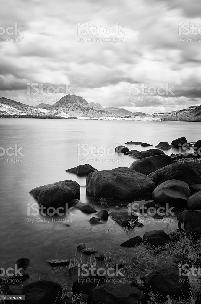 Loch Maree And Slioch stock photo