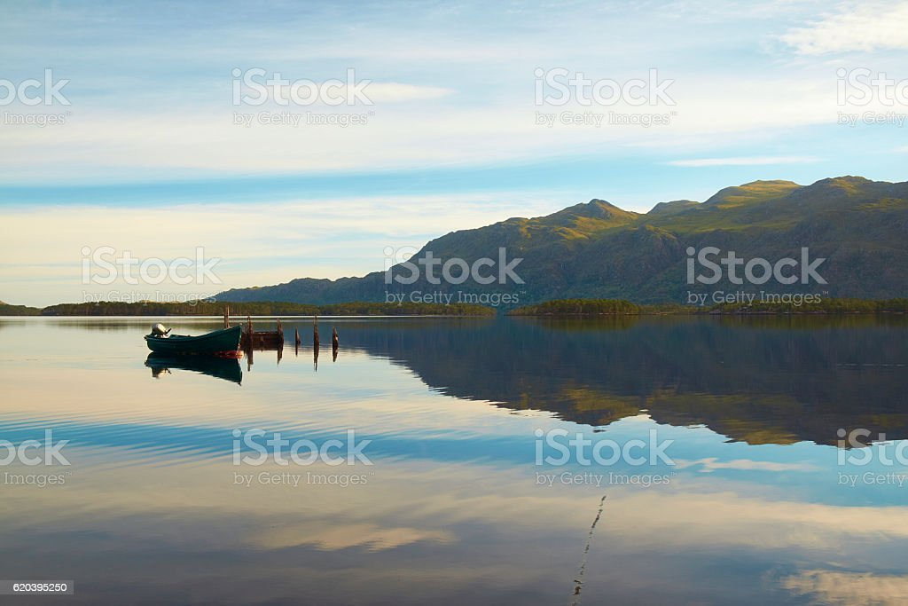 Loch Maree At Dawn stock photo