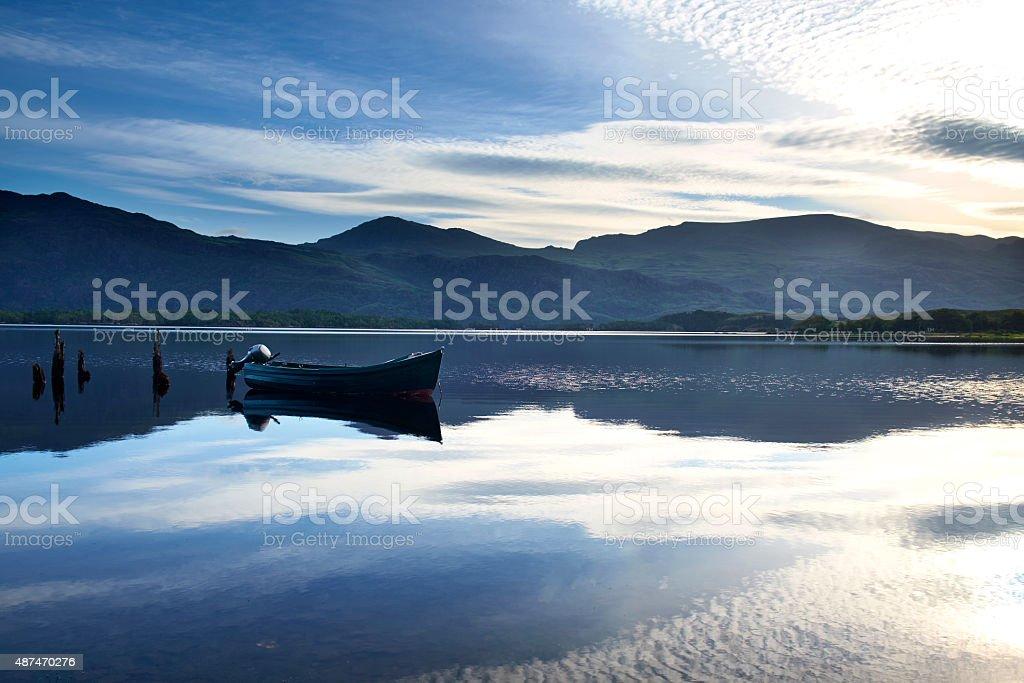 Loch Maree Dawn Scenic stock photo
