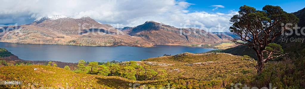 Loch Maree Highlands Scotland stock photo