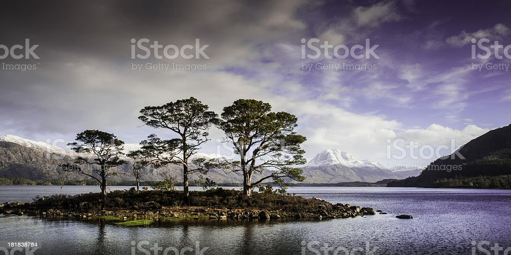 Loch Maree Island stock photo