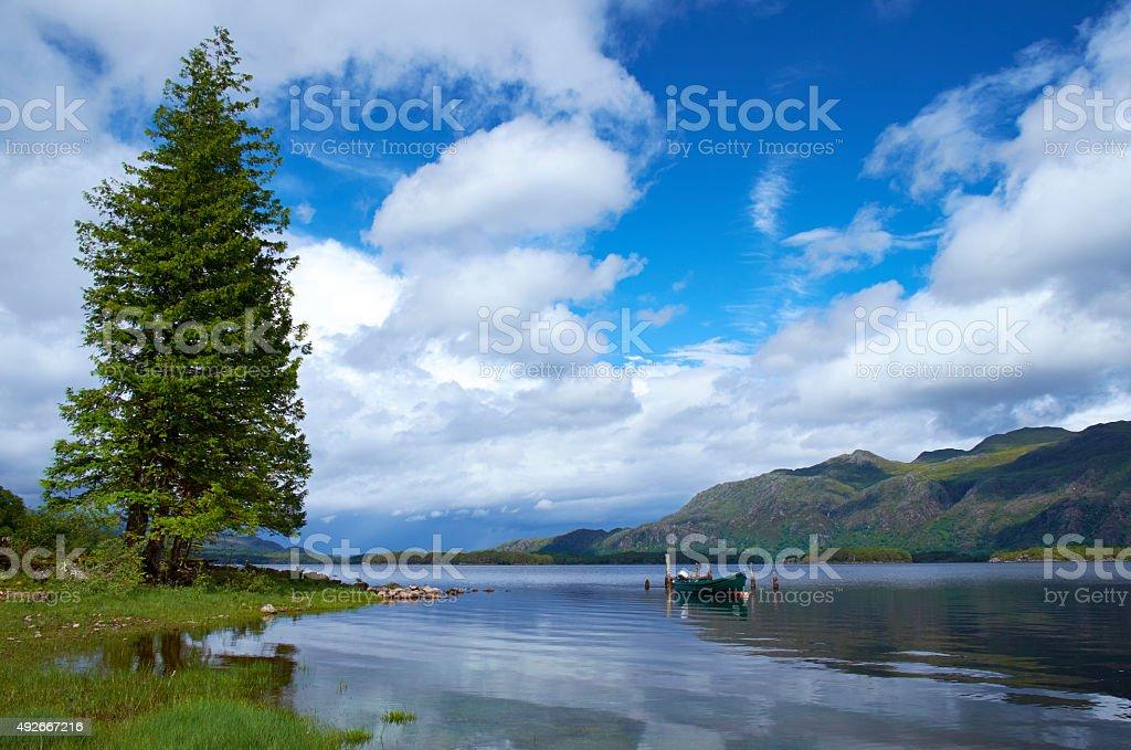 Loch Maree Scotland Scenic stock photo