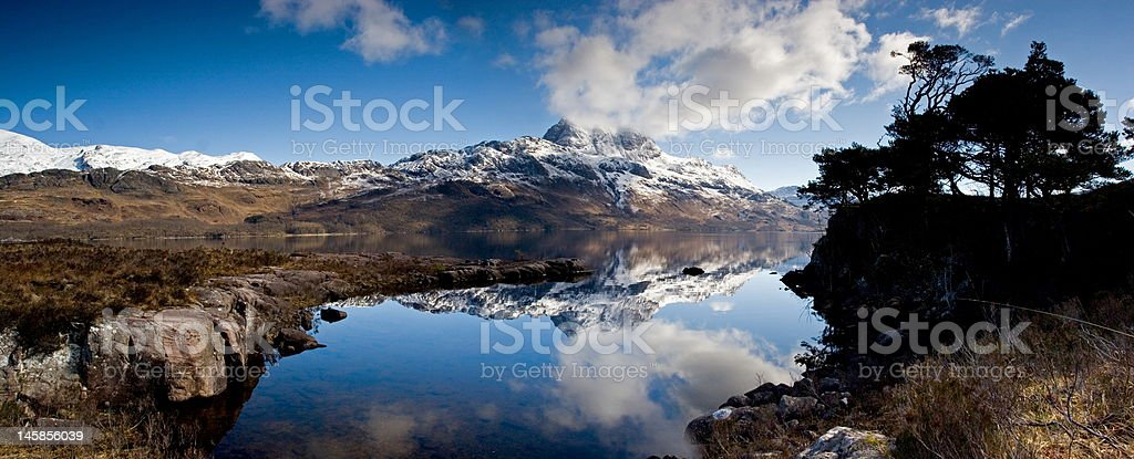 Loch Maree & Slioch stock photo