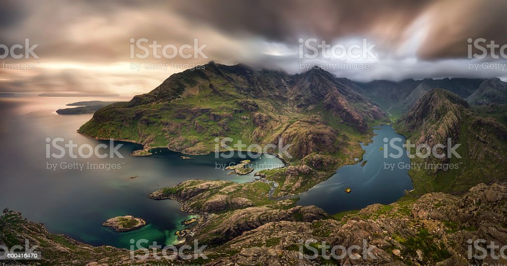 Loch na Cuilce stock photo