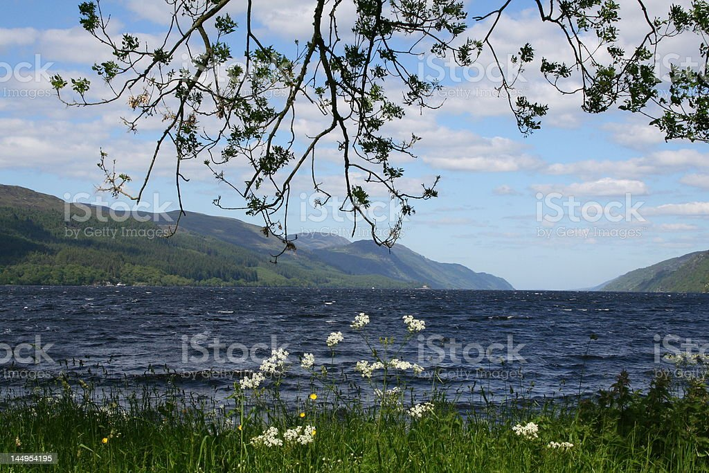 Loch Ness in Scottland stock photo