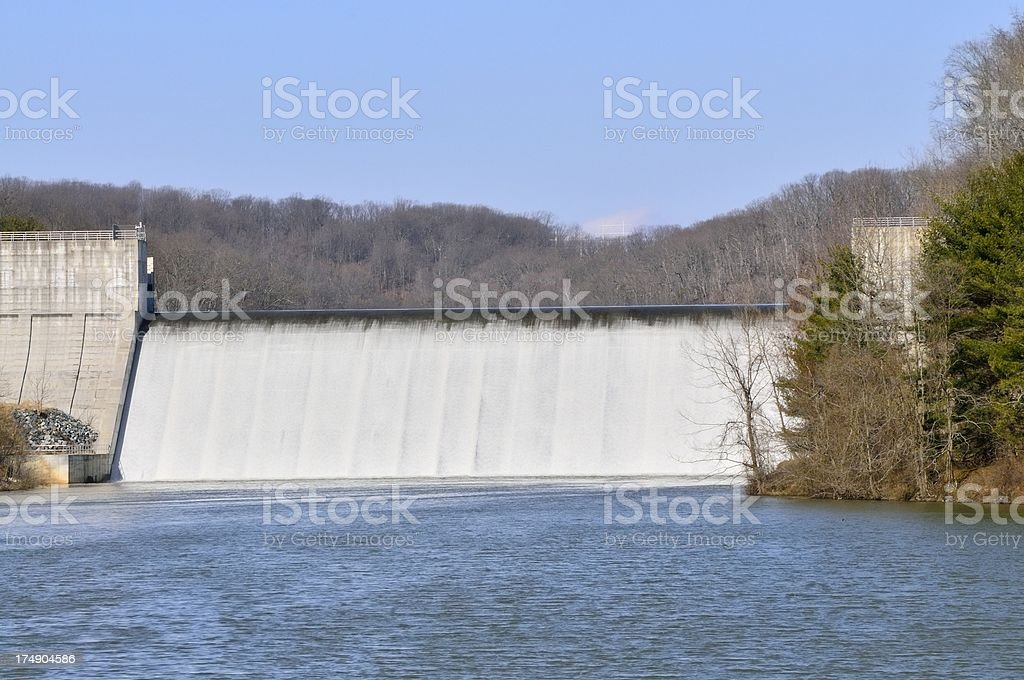 Loch Raven Dam Spillway stock photo