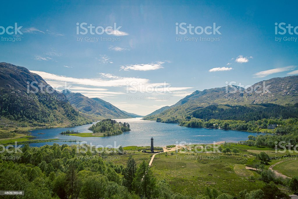 Loch Shiel, Glenfinnan, Scotland stock photo
