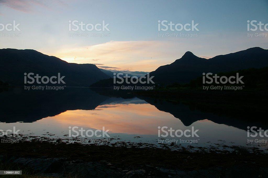 loch sunrise royalty-free stock photo