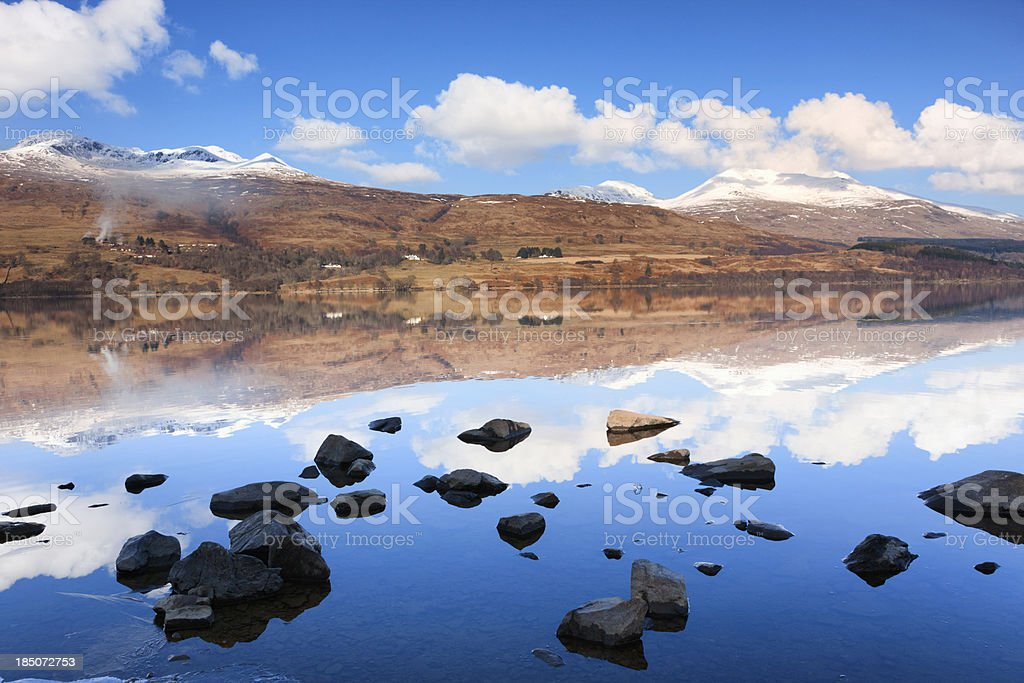 Loch Tay And Meall Greigh royalty-free stock photo