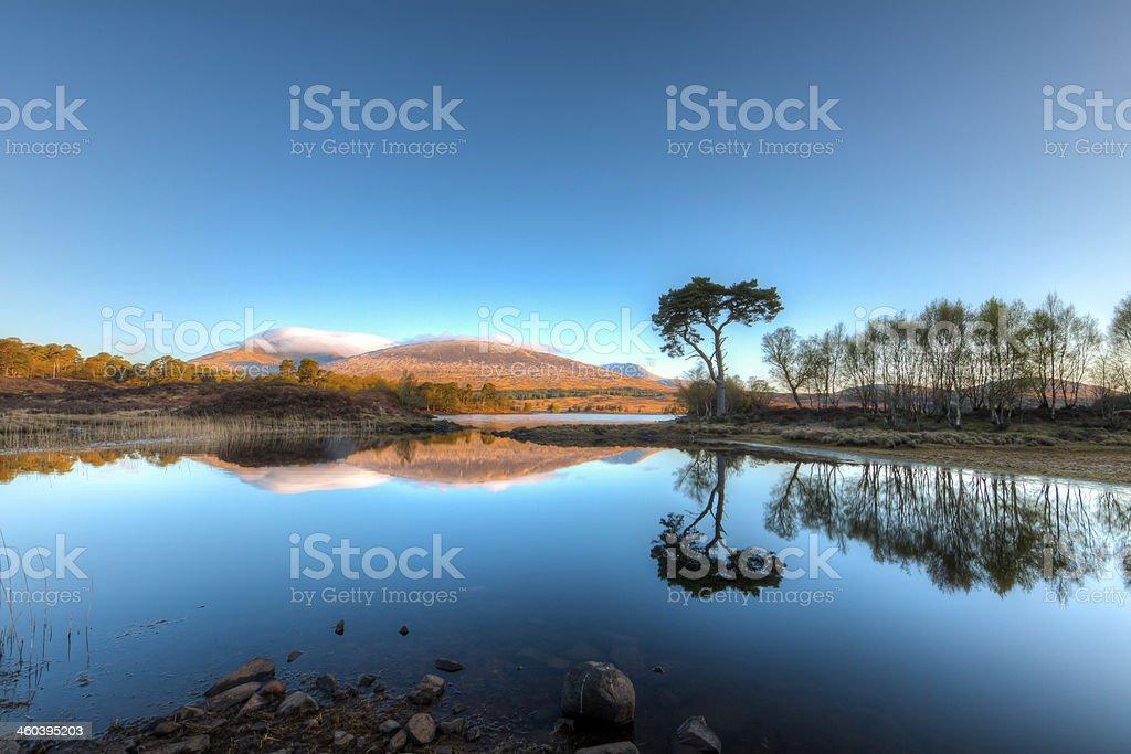 Loch Tulla Reflections. royalty-free stock photo