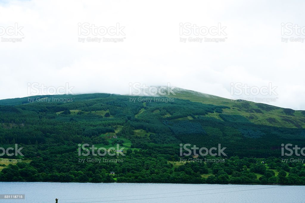 Loch Venachar in Scotland stock photo
