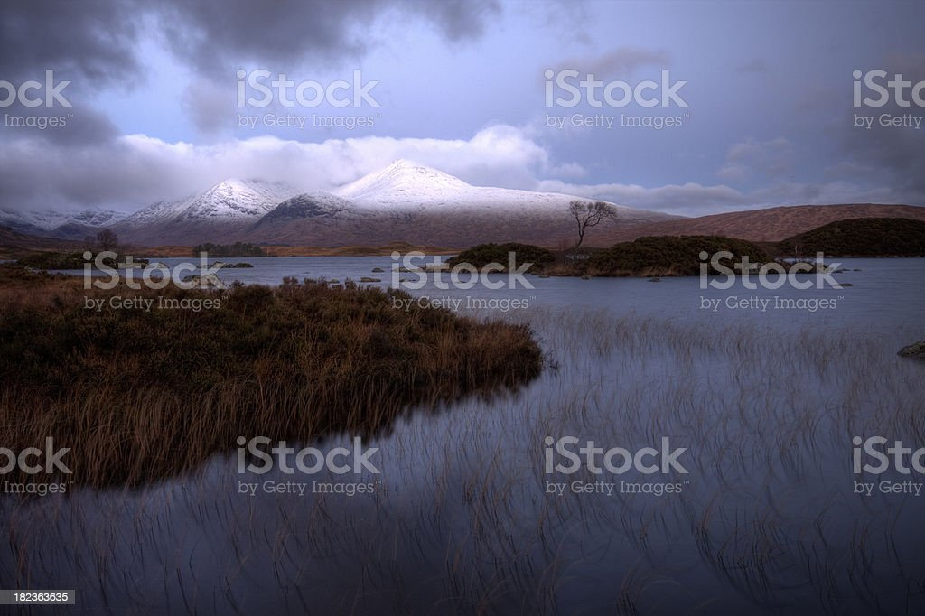 Lochan na h-Achlaise and Blackmount, Rannoch Moor, Scotland. royalty-free stock photo