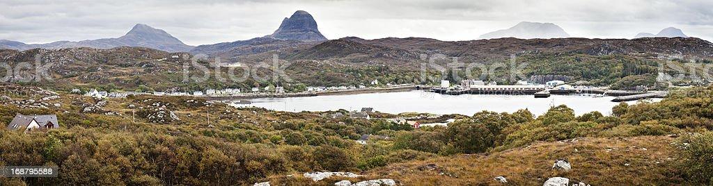 Lochinver Panorama stock photo