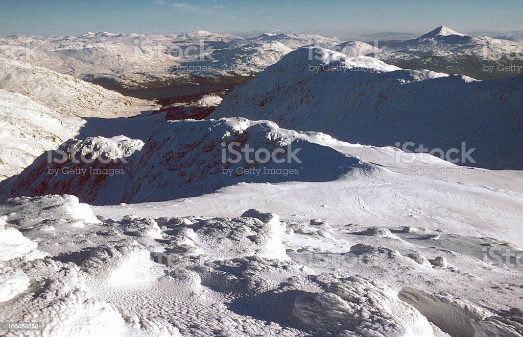 Lochs Katrine and Lomond from Ben Ime Trossachs Scotland stock photo