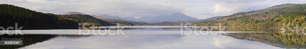 Lochside Panorama royalty-free stock photo