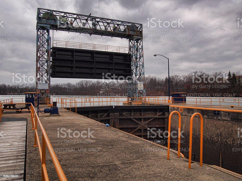 Lock CS/2, Seneca Falls, New York stock photo