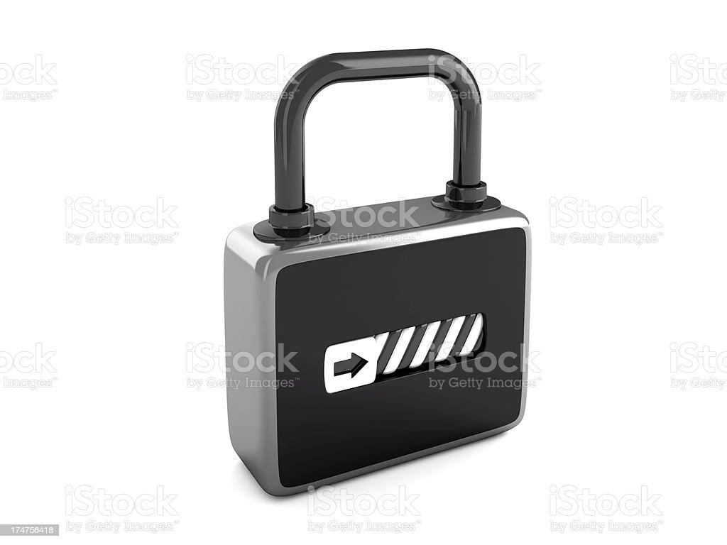 Lock 2.0 royalty-free stock photo