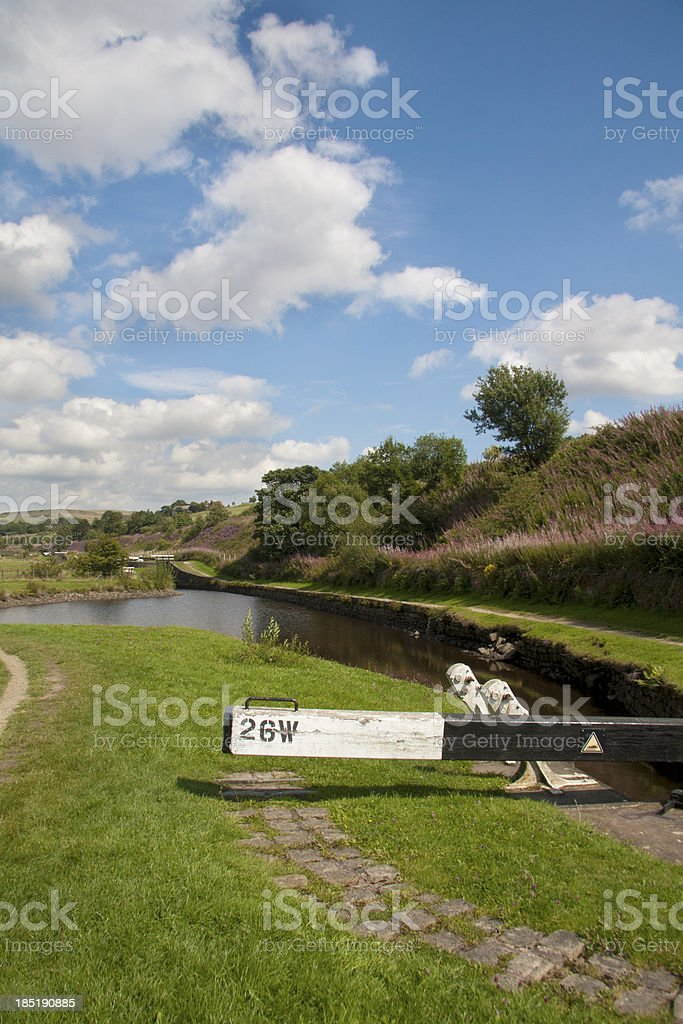 Lock 26 on the Huddersfield Narrow Canal stock photo