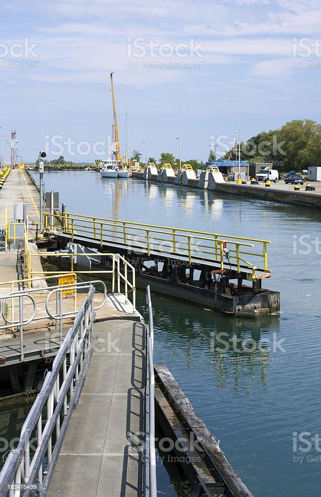 Lock 7 Welland Canal Portrait stock photo