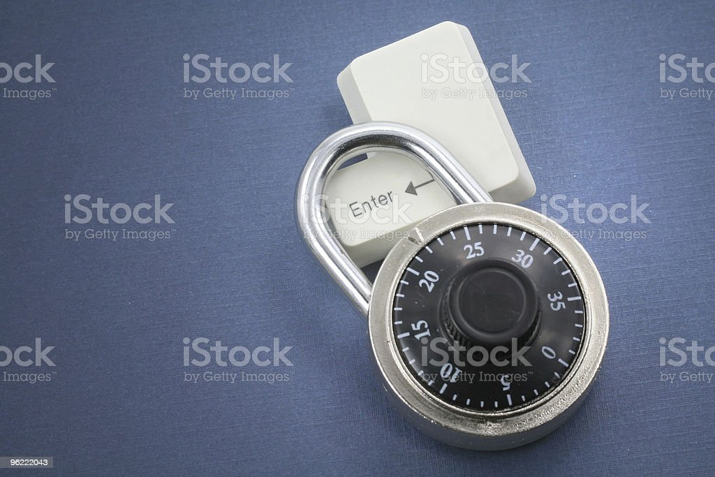lock and a enter key royalty-free stock photo