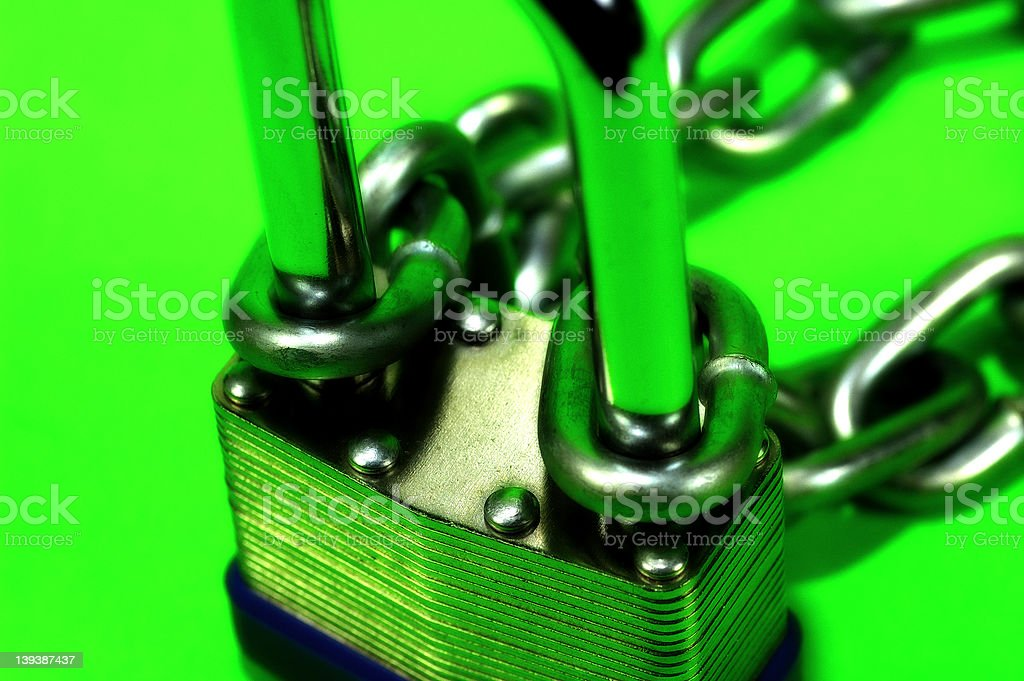 Lock and Chain 2 royalty-free stock photo