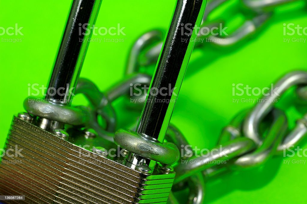 Lock and Chain royalty-free stock photo