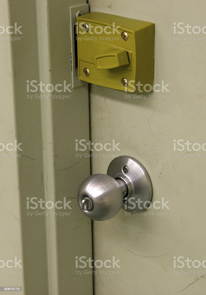 Lock and Handle stock photo