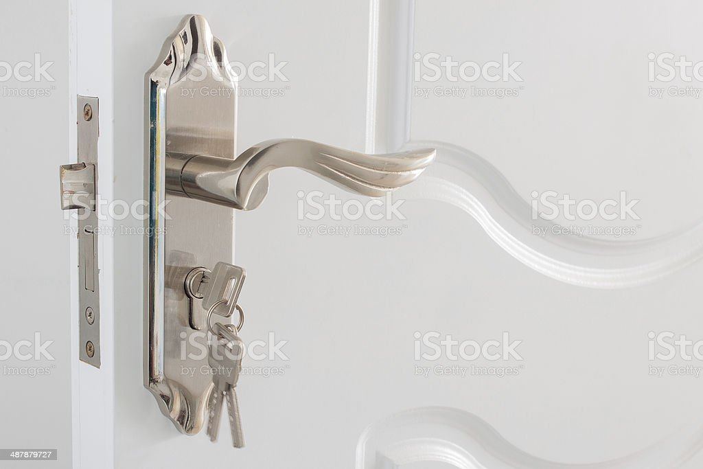 Lock and key stock photo