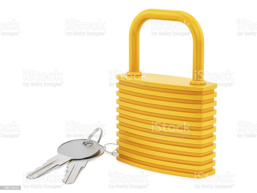 lock and keys royalty-free stock photo