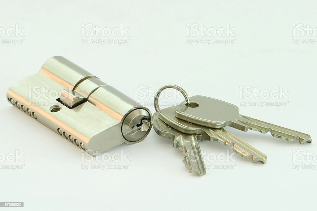 lock and keys royalty-free stock photo