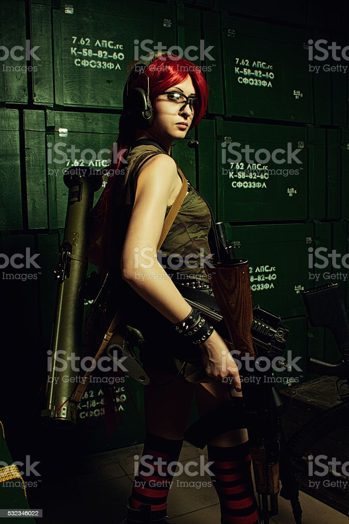 Lock and loaded stock photo