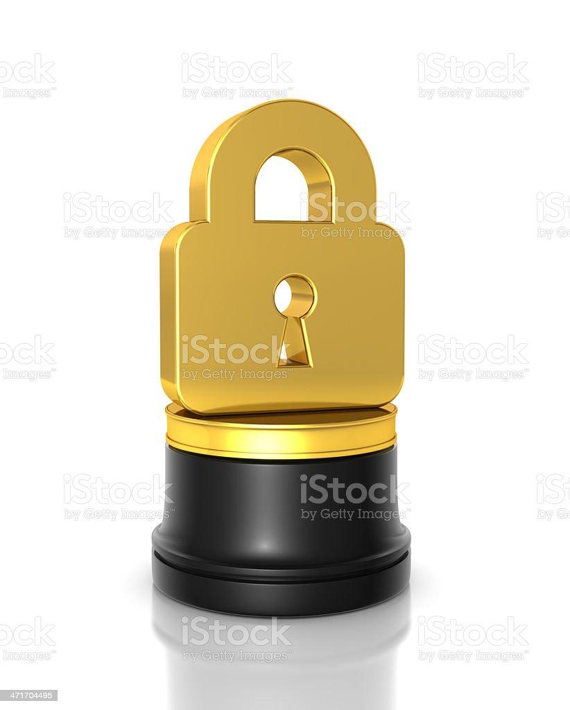 Lock Award royalty-free stock photo