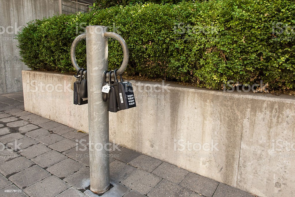 lock boxes stock photo