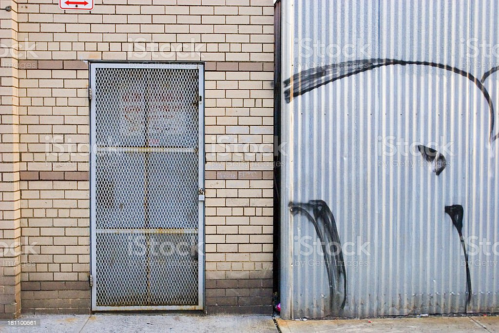Lock Down in Brooklyn royalty-free stock photo