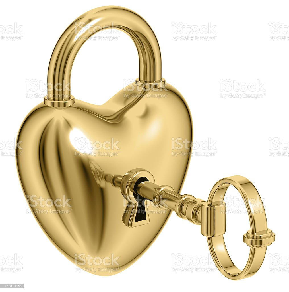 Lock formed as heart. royalty-free stock photo