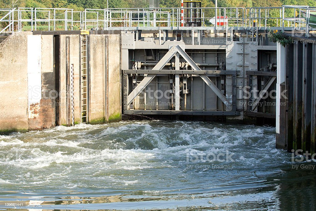 Lock gates at Stadtbredimus Luxembourg 2 royalty-free stock photo