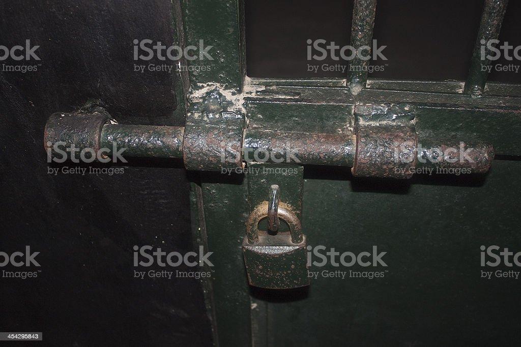 Lock in a prison stock photo