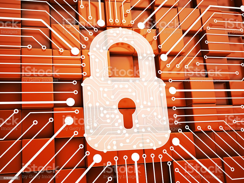 Lock. Internet Security Concept stock photo