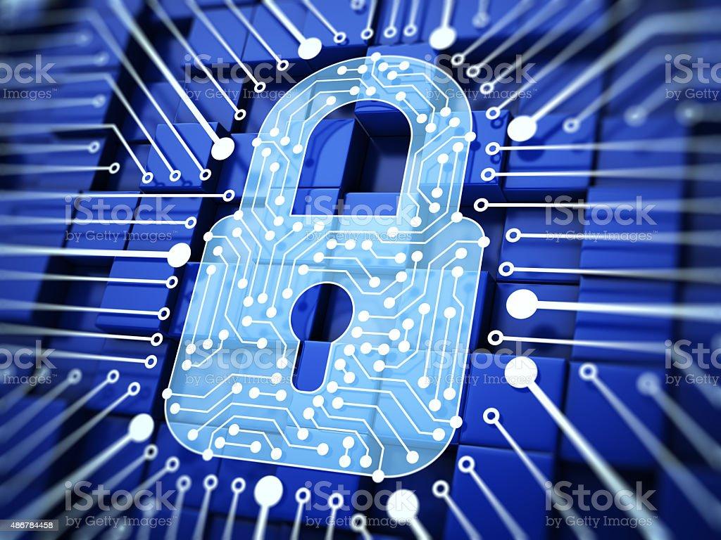 Lock. Internet Security stock photo