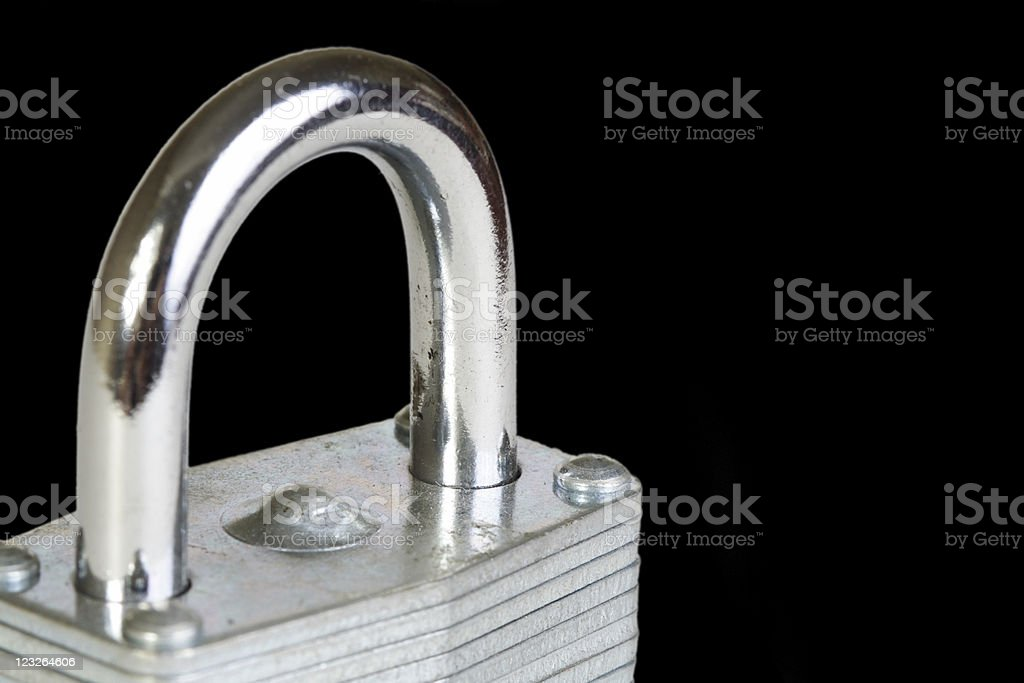 Lock Isolated on Black royalty-free stock photo