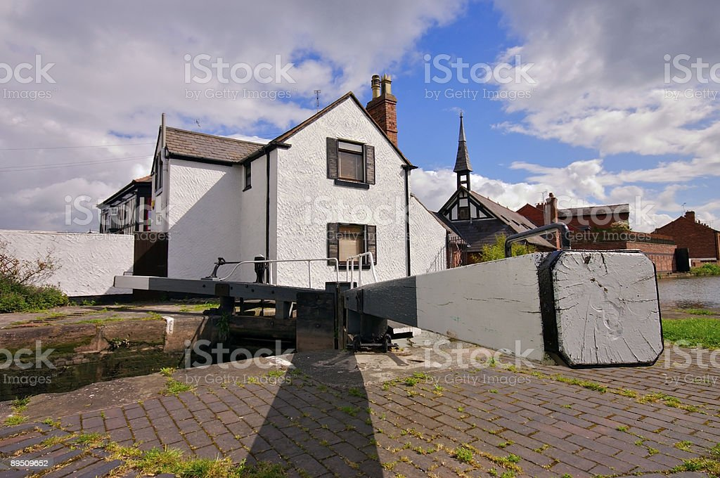 Lock keepers cottage royalty-free stock photo