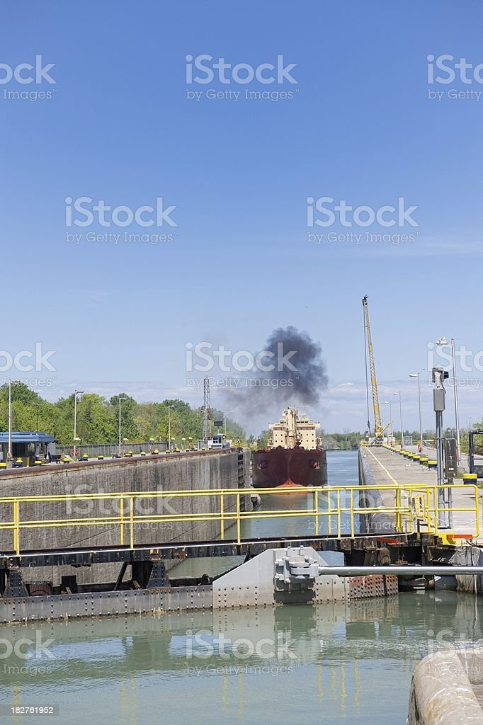 Lock No. 1 at the Welland Canal. stock photo