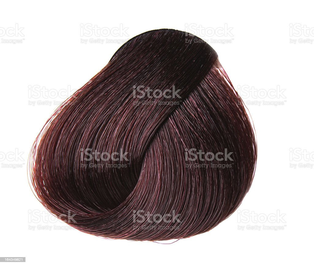 lock of hair color stock photo