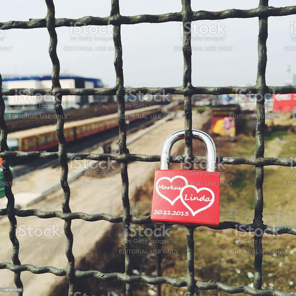 Lock of love royalty-free stock photo
