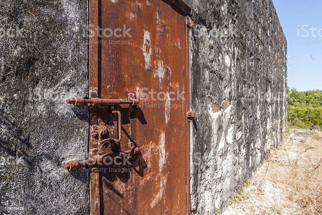 Lock of prison stock photo