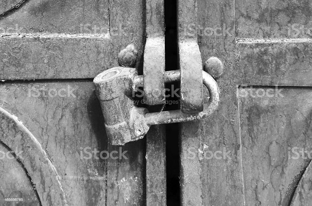Lock old royalty-free stock photo