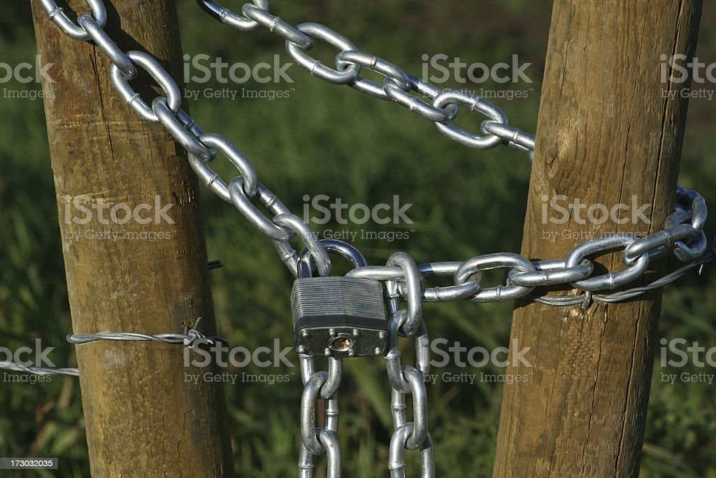 Lock on a fence royalty-free stock photo