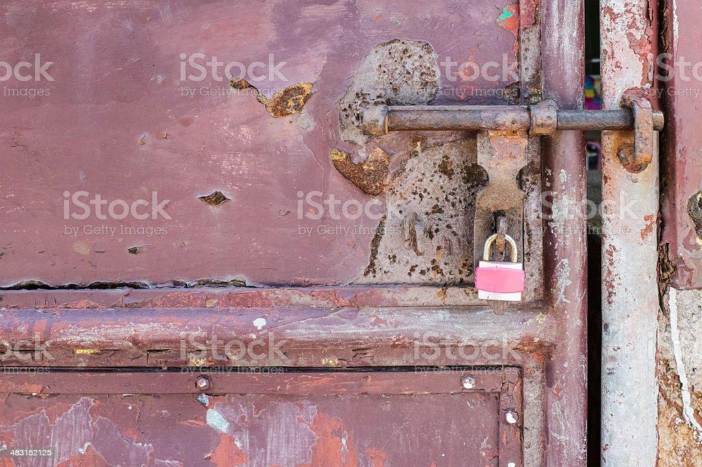 Bloqueo de puerta de Metal foto de stock libre de derechos